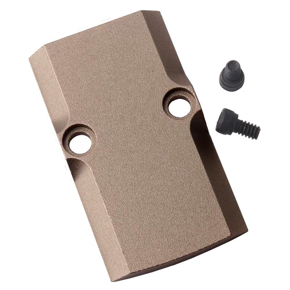 Trijicon RMR Cover Plate for Glock Slides (17,19, 26) TAN/GOLD